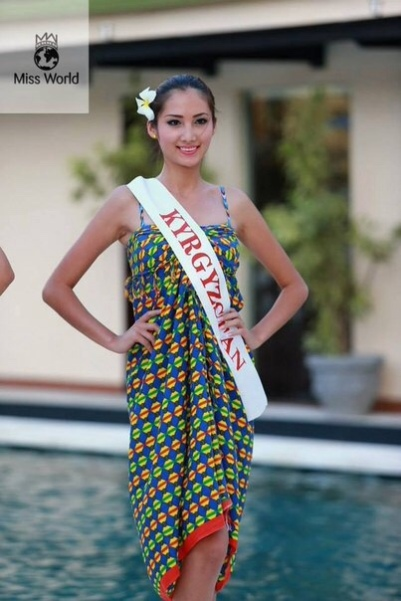 Zhibek as one of the 32 finalists of the Beach Fashion event. PHOTO: Miss World